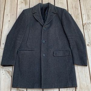 DKNY Wool Single Breasted Trench Coat Size 38R